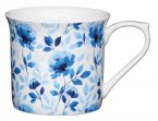 KitchenCraft Fluted Fine Bone China Mug 300ml - Blue Rose