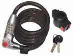 Kasp 750 Illuminated Combination Coil Cable Bike Lock 1800mm