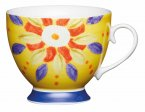 KitchenCraft Fine Bone China Footed Mug 400ml - Moroccan Yellow
