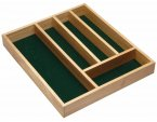 KitchenCraft Traditional Wooden Cutlery Tray