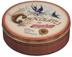 Elite Gift Boxes Nostalgia Chocolates of Distinction Medium Round Tin