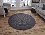 Think Rugs Spiral Grey