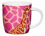 KitchenCraft Fine Bone China Barrel Mug 425ml - Giraffe