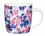 KitchenCraft Fine Bone China Barrel Mug 425ml - Painted Ditsy
