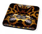 Kico Animal Skin Coaster - Yellow Snake