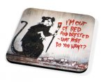 Kico Banksy Coaster - Out of Bed Rat