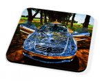 Kico Automotive Coaster - Silver Mercedes