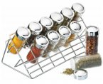Home Made Chrome Plated Spice Rack Set, 30cm x 15.5cm