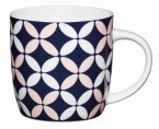 KitchenCraft Fine Bone China Barrel Mug 425ml - Petals