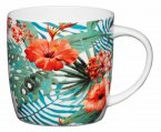KitchenCraft Fine Bone China Barrel Mug 425ml - Jungle