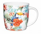 KitchenCraft Fine Bone China Barrel Mug 425ml - Toucan