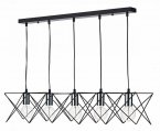 Dar Midi 5 Light Bar Pendant Black / Polished Chrome