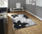 Think Rugs Verona OC15 Grey/Black - Various Sizes