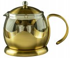 La Cafetiere Edited Teapot Brushed Gold 1200ml