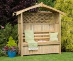 Zest4Leisure Hampshire Arbour with Storage Box