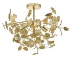 Dar Yadira 4 Light Semi Flush Gold Effect