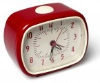 Rex Retro Alarm Clock Red