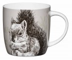 KitchenCraft Fine Bone China Barrel Mug 425ml - Squirrel