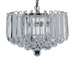 Searchlight Sigma 4 Light Chrome Pendant with Clear Acrylic Detail