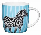 KitchenCraft Fine Bone China Barrel Mug 425ml - Zebra