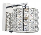 Dar Agneta 1 Light Wall Bracket Polished Chrome