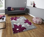 Think Rugs Verona OC15 Grey/Purple - Various Sizes