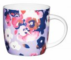 KitchenCraft Fine Bone China Barrel Mug 425ml - Painted Flower