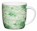 KitchenCraft Fine Bone China Barrel Mug 425ml - Palm Trees