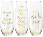 Lesser & Pavey Gold Prosecco Stemless Glass