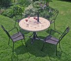 Byron Manor Montpellier Dining Table with 4 Verona Chairs