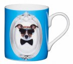 KitchenCraft Fine Bone China Mini Mug 250ml - Blue Dog