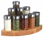 Master Class Nine Jar Worktop Corner Spice Set, 18cm x 20cm