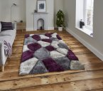 Think Rugs Noble House NH5858 Grey/Purple - Various Sizes