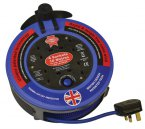 Faithfull 10m Quick Rewind Cable Reel