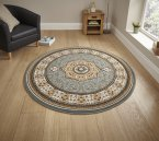 Think Rugs Heritage 4400 Blue Circle