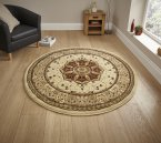 Think Rugs Heritage 4400 Cream/Red Circle