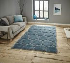Think Rugs Noble House NH30782 Blue