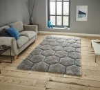 Think Rugs Noble House NH30782 Grey/Blue - Various Sizes