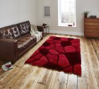 Think Rugs Noble House NH5858 Red - Various Sizes
