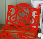 Premier Cast Iron Cookbook Stand in Red
