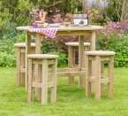 Zest4Leisure Bahama Oval Table & 4 Stool Set