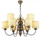 David Hunt Garbo 9 Light Bronze Pendant with Cream Shades