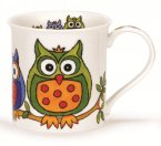 Dunoon Bute Shape Fine Bone China Mug - Life's a Hoot - Leaves