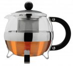 Grunwerg 1.2 Litre Glass and Stainless Steel Teapot