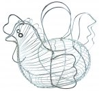 Apollo Chrome Basket Hen Egg Storage