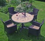 Byron Manor Montpellier Dining Table with 4 Stockholm Brown Chairs