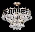 Searchlight Versailles 5 Light Gold Plated Crystal Semi Flush Chandelier