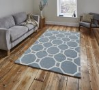 Think Rugs Hong Kong 4338 Light Blue - Various Sizes