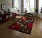 Think Rugs Verona OC15 Brown/Red - Various Sizes