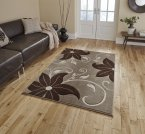 Think Rugs Verona OC15 Beige/Brown - Various Sizes